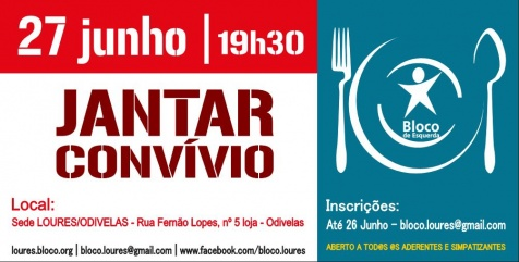 Jantar/Convívio Bloco Loures