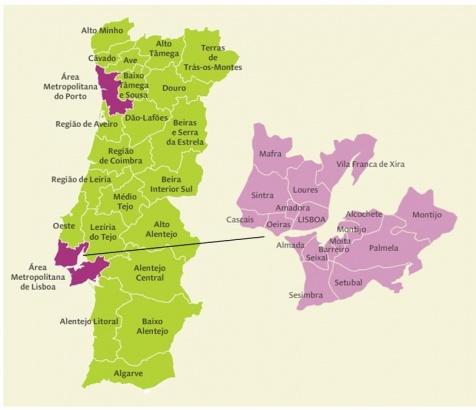 mapa area metropolitana de lisboa O NOVO REGIME JURÍDICO DA ÁREA METROPOLITANA | Bloco Loures mapa area metropolitana de lisboa